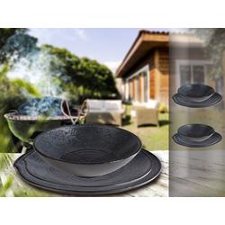 APS Geschirr-Set (6-tlg), Melamin, Camping-Geschirr für 2 Personen, Picknickgeschirr, Bootsgeschirr, Essgeschirr für Wohnmobil