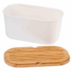KESPER Brotbox weiß Melamin, 37 x 17,5 x 21,5 cm