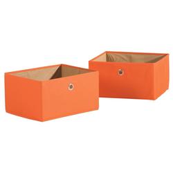 roba® Aufbewahrungsbox Canvas-Boxen, orange (Set, 2 Stück)