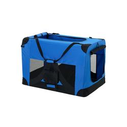 Pro-tec Tiertransporttasche, Hundetransportbox Faltbar von S bis XXXXL Transportbox 4 verschiedene Farben blau 91 cm x 64 cm x 64 cm
