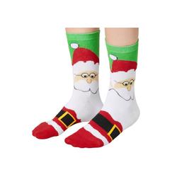 tectake Kuschelsocken Weihnachtssocken mit Weihnachtsmann-Motiv (1-Paar) 35-38