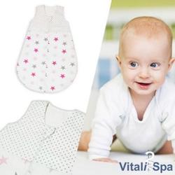 VITALISPA Babydecke Kinderschlafsack Größe 68 Schlafsack Sommerschlafsack Mädchen 4-6 Monate 70 cm