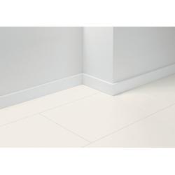 PARADOR Sockelleiste SL 18 Uni weiß D001, L: 257 cm, H: 7 cm, Set, 5-St., 5-tlg.