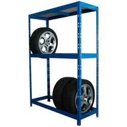 SZ METALL Schwerlastregal für 8 Reifen blau