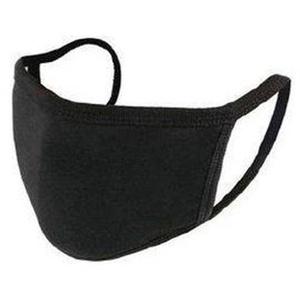 Mundschutz BaumwolleTextil, 3-lagig, 100% Baumwolle, waschbar, Innenvlies PP, schwarz