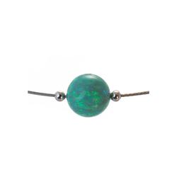 Bella Carina Perlenkette Opal 8 mm grün