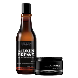 Redken Brews 3-in-1 Shampoo & Clay Pomade