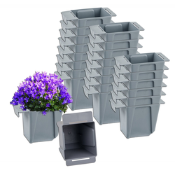 BigDean Blumenkasten Pflanzkasten Palette Mini Kunststoff Paletten Pflanzkübel Palettenkasten Palettenpflanzkasten (24 Stück)