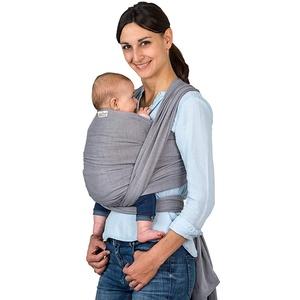 AMAZONAS Babytragetuch Carry Sling Grey - TESTSIEGER bei Stiftung Warentest mit Bestnote 1,7-450 cm 0-3 Jahre bis 15 kg in Grau