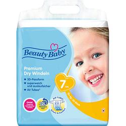 Beauty Baby Windeln Premium Dry Größe Gr.7 (15+ kg) für Kleinkinder