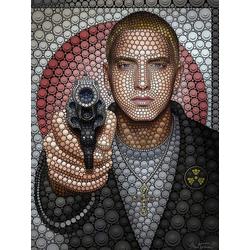 Wall-Art Poster Eminem, Poster, Wandbild, Bild, Wandposter 100 cm x 120 cm