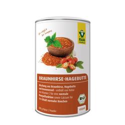 BIO BRAUNHIRSE-HAGEBUTTE Mischung Pulver 600 g
