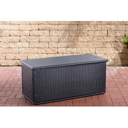 CLP Auflagenbox Comfy, Poly-Rattan Auflagenbox, Gartentruhe für Kissen und Auflagen schwarz