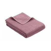 IBENA Wohndecke Luxus, unifarbenes Design rosa