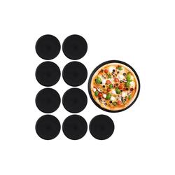 relaxdays Pizzablech Pizzablech 10er Set, Stahl