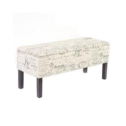 MCW Sitztruhe Renens, Mit praktischem aufklappbaren Deckel, Integriertes Aufbewahrungsfach, Gepolsterte Sitzfläche braun