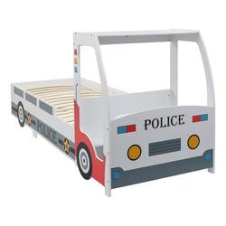vidaXL Kinderbett vidaXL Kinderbett im Polizeiauto-Design mit Schreibtisch 90 x 200 cm