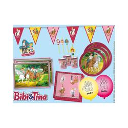 dh konzept Kindergeschirr-Set Partyset Bibi & Tina, 69-tlg. rosa