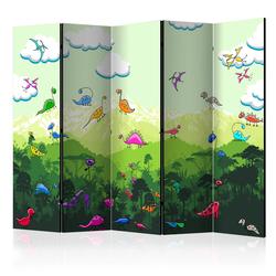 Parawan 5-częściowy - Kolorowe dinozaury
