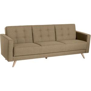 Max Winzer Sofa 3-Sitzer mit Bettfunktion Julian Flachgewebe sand 224 x 83 x 81