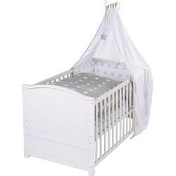 roba® Babybett Kinderbett komplett Little Stars, weiß, 70 x 40 cm