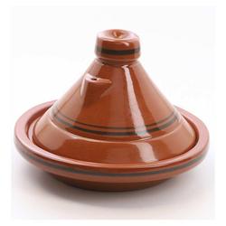 Casa Moro Schmortopf Marokkanische Tajine Terra Miel glasierter Tontopf, handgetöpfert aus Marrakesch, Ton, (2-tlg), Made in Marokko braun Ø 25 cm