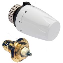 Heimeier Thermostat-Nachrüst-Set 9691-00.230 weiß, mit Thermostat-Oberteil/-Kopf