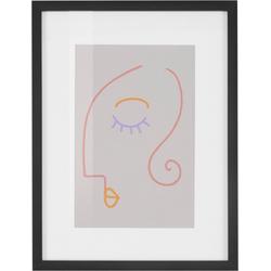 COUCH♥ Bild Gesichtet, Gesicht (1 Stück) lila 30 cm x 40 cm