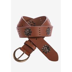 Cipo & Baxx Ledergürtel, in lässigem Design braun Damen Ledergürtel Gürtel Accessoires