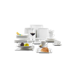 MALACASA Kombiservice BLANCE (42-tlg), Porzellan, Cremeweiß Geschirrset