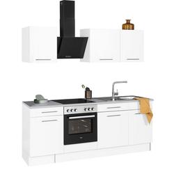 wiho Küchen Küchenzeile Ela, ohne E-Geräte, Breite 220 cm