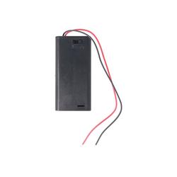 AccuCell Batteriehalter für 2x Mignon AA LR6 Batterie mit A Batterie