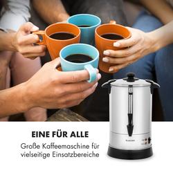 Excelsa Rundfilter-Kaffeemaschine, 30 Tassen, Zapfhahn, Edelstahl