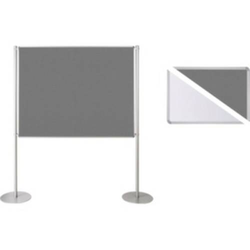 Ultradex Stellwand 749328 200x120cm Filz/Whiteboard Tellerfuß ws/gr