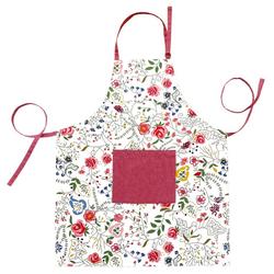 Lashuma Kochschürze Blumenranke, Damenschürze 80x65 cm, Bedruckte Grillschürze
