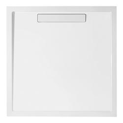 Villeroy & Boch Squaro Super Flat Quadrat Quaryl®-Duschwanne 100 x 100 cm… Grau (matt)