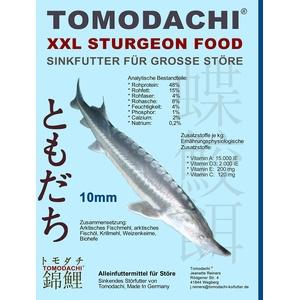 Tomodachi Störfutter extragroß 10mm Energiefutter für Störe, Störsinkfutter deutsche Top Qualität, Premium Störfutter perfekt für das ganze Jahr, energiereich, hochverdaulich, arktische Rohstoffe 3kg