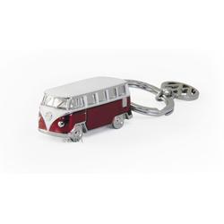 VW Bulli T1 3D Schlüsselanhänger rot