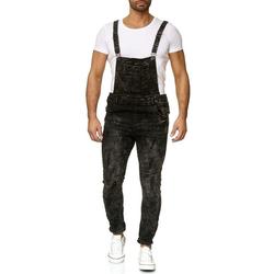 Egomaxx Slim-fit-Jeans 2626 Herren Latzjeans ARCHER schwarz W30