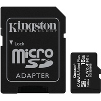 Kingston microSD Canvas Select 16GB Class 10 + SD-Adapter
