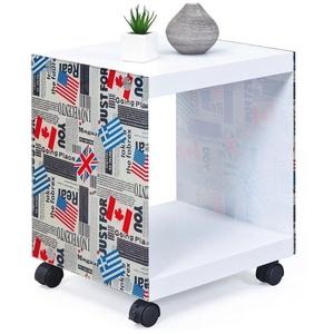 INOSIGN Beistelltisch mit gestalteten Glasseiten »Cube«