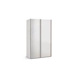 Express Möbel Schwebetürenschrank Budget 2 in weiß, B/T ca. 125 x 48 cm