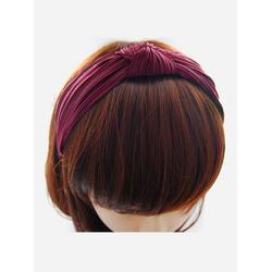 axy Haarreif Haareif mit leichtem Samt und Knoten, Vintage Damen Haareifen Haarband rot