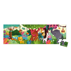 Janod Puzzle Puzzlekoffer Panorama-Puzzle Dschungel 36 Teile, 36 Puzzleteile