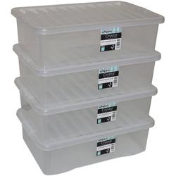 Aufbewahrungsbox Wham - Crystal (Set, 4 Stück), 32 l, stapelbar