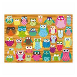 Schmidt Spiele Puzzle Eulen-Collage, 500 Puzzleteile bunt