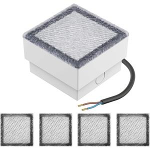 Parlat LED Pflasterstein Bodenleuchte CUS 10x10cm 230V warm-weiß (5er Pack)