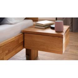 Schwebender Schubladen-Nachttisch aus geölter Wildeiche - Pasja