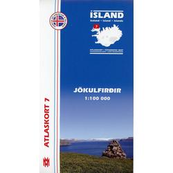 Island Atlaskort 07 Jökulfirdir 1:100.000
