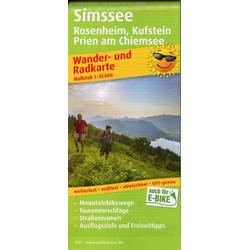 Simssee Rosenheim Kufstein Prien am Chiemsee 1:35 000